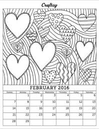 Small Picture January 2016 Printable Coloring Calendar Craftsy