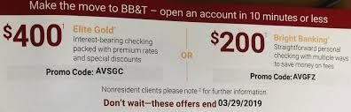 expired bb t 400 checking bonus ymmv