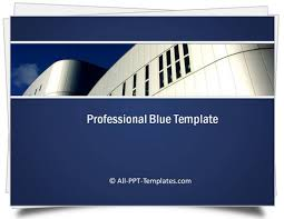 Professional Templates Powerpoint Professional Blue Template