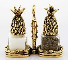 salt and pepper shakers. Pineapple Salt And Pepper Shakers · Image 1
