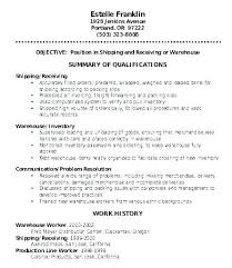 Example Of A Objective For A Resumes Warehouse Objective For Resume Wikirian Com