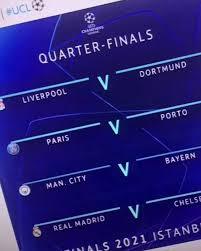 Финал лиги чемпионов уефа 2021 состоится 29 мая 2021 года. Liga Chempionov 2020 2021 V Internet Slili Pary 1 4 Finala Foto Telekanal Futbol