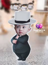 Ghép hình chibi Boss Baby – Trang Trí Sinh Nhật – Trang Trí Thôi Nôi –  Trang Trí Bong Bóng – Trang Trí Sự Kiện