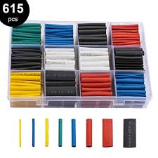 Innhom 615pcs Heat Shrink Tubing Heat Shrink Tube Wire Shrink Wrap Ul Approved Ratio 2 1 Electrical Cable Wire Kit Set Long Lasting Insulation