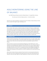 Visual Control Chart Enables In Agile Pdf Agile Monitoring Using The Line Of Balance