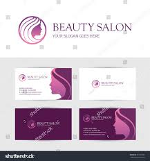 makeup business cards designs logo business card design templates beauty stock vector 381229780
