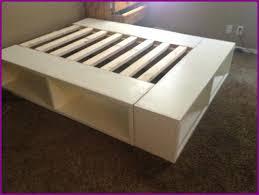 ikea storage bed hack. Ikea Platform Storage Bed Lovable With Bookshelf Video . Hack