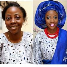 6 nigerian bridal makeup before and after