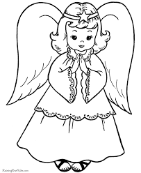 Angel Christmas Coloring Pages 011