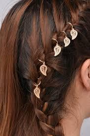 sweet braid hair charm accessories leaf star hair clips pins head jewelry decoration s cross bergamot circle leaves shape hairpin braid accessories