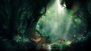 sunlight forest animals fantasy art nature reflection jungle darkness screenshot 2560x1440 px habitat natural environment computer on art nature wallpaper with wallpaper sunlight forest animals fantasy art nature