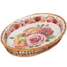 <b>Форма для выпечки</b> керамическая <b>Mayer&Boch</b> Розы на белом ...