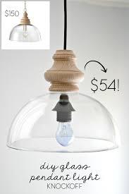 diy glass pendant light fixture