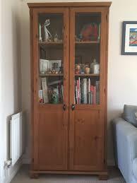 ikea leksvik bookcase cabinet with glass doors