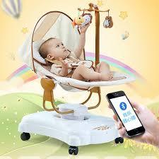 Bebé a dormir cuna mecedora eléctrica cuna bebé Bouncer Swing con enchufe  inteligente cama recién nacido