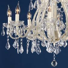 to view larger image and more views marie therese intricate 8 arm cream chandelier with glass beads