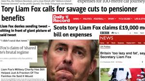 Image result for liam fox scandal poster photo