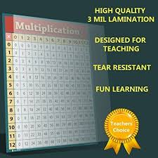 Refurbished Learning Multiplication Table Chart Laminated Poster For Classroom Students Bedroom Clear Teaching Tool For Schools Edu 16x20