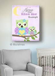owl decor girls wall art owl canvas art baby nursery by muralmax owlnursery purplenursery nurseryddecor on canvas wall art for baby nursery with owl decor girls wall art owl canvas art baby nursery owl always
