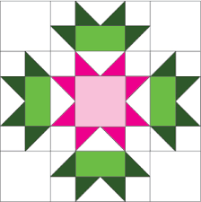 Quilt Square Patterns Fascinating Connemara Flower Free Ireland Quilt Block Of The Month Pattern