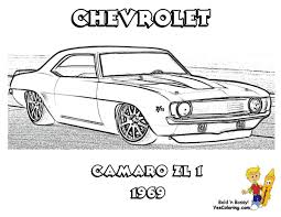 chevy camaro coloring pages printable 14 s z28 rear view for boys transportation 69