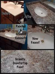 Imitation Granite Countertops Kitchen Faux Granite Countertop Completed Diy Projects Pinterest