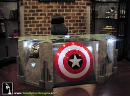 coolest office desk. Become A Superhero With The Custom Built Avengers Office Desk | Bit Rebels Coolest