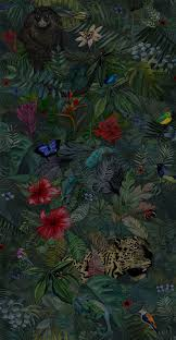 the waking jungle wallpaper luxury jungle style wallpaper with tropical flowers and exotic s