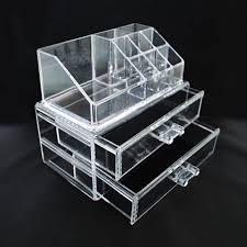 Buy Clear Acrylic Makeup Organizer - great for makeup, jewelry, party  favors, craft storage, party displays, Christmas/Holiday gift idea by  Dallas Warehouse ...