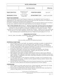 Job Description Examples For Resume Career Summary Objectives