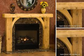 rustic fireplace mantels. New Ideas Rustic Fireplace Mantels With Aspen Timber Wood Mantel Indoor N