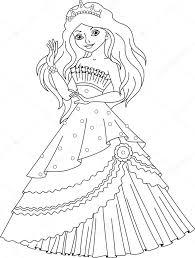 Princess Zeemeermin Kleurplaat Stockvector Malyaka 106383366