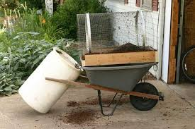 this compost sifter will keep the courser