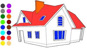 Duplex House Coloring Games L Coloring Book Learn Colors For