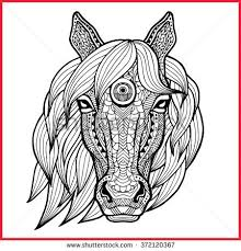 Small Picture 144 best Zentangled Animals Horse images on Pinterest Drawings
