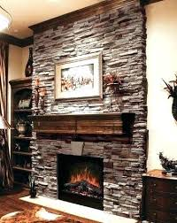 installing stone veneer fireplace over