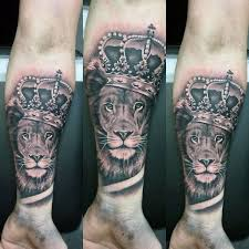 Short Tattoo Quotes Interesting 48 Lion With Crown Tattoo Designs For Men Royal Ink Ideas