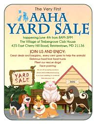aaha yard events adopt a homeless animal rescue consider making a donation for the yard