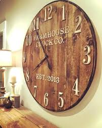 rustic wood clock farmhouse clock co standard numeral wooden wall clock large rustic pallet wood wall