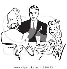 kitchen table clipart black and white. family clip art black and white kitchen table clipart t