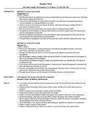 Example District Sales Manager Resume Professional Resume Templates