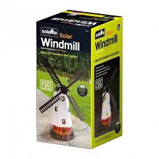 traditional windmill solar powered wind powered garden ornament led garden outdoors