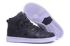 largest nike dunk leather high tops men casual shoes black white j60b9733