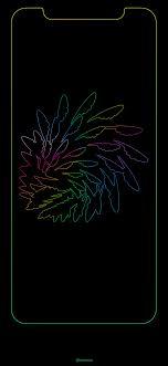 Rainbow Edge Wallpaper Iphone 8