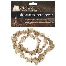 natural burlap decorative cord cover chandelier