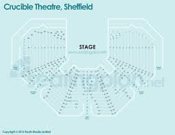 crucible theatre detailed seating plan with seat numbers and rows