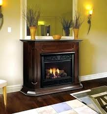 vent free propane fireplace 2 ventless with mantel savannah oak 18 in gas logs remote stove vent free propane fireplace