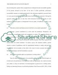 the importance of accountability paper essay example topics and  the importance of accountability paper essay example