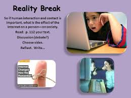 socialization chpt ppt video online reality break so if human interaction and contact is important what is the effect of