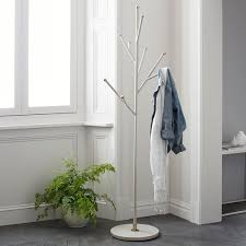 White Coat Rack Tree Tree Coat Rack Parchment West Elm 22